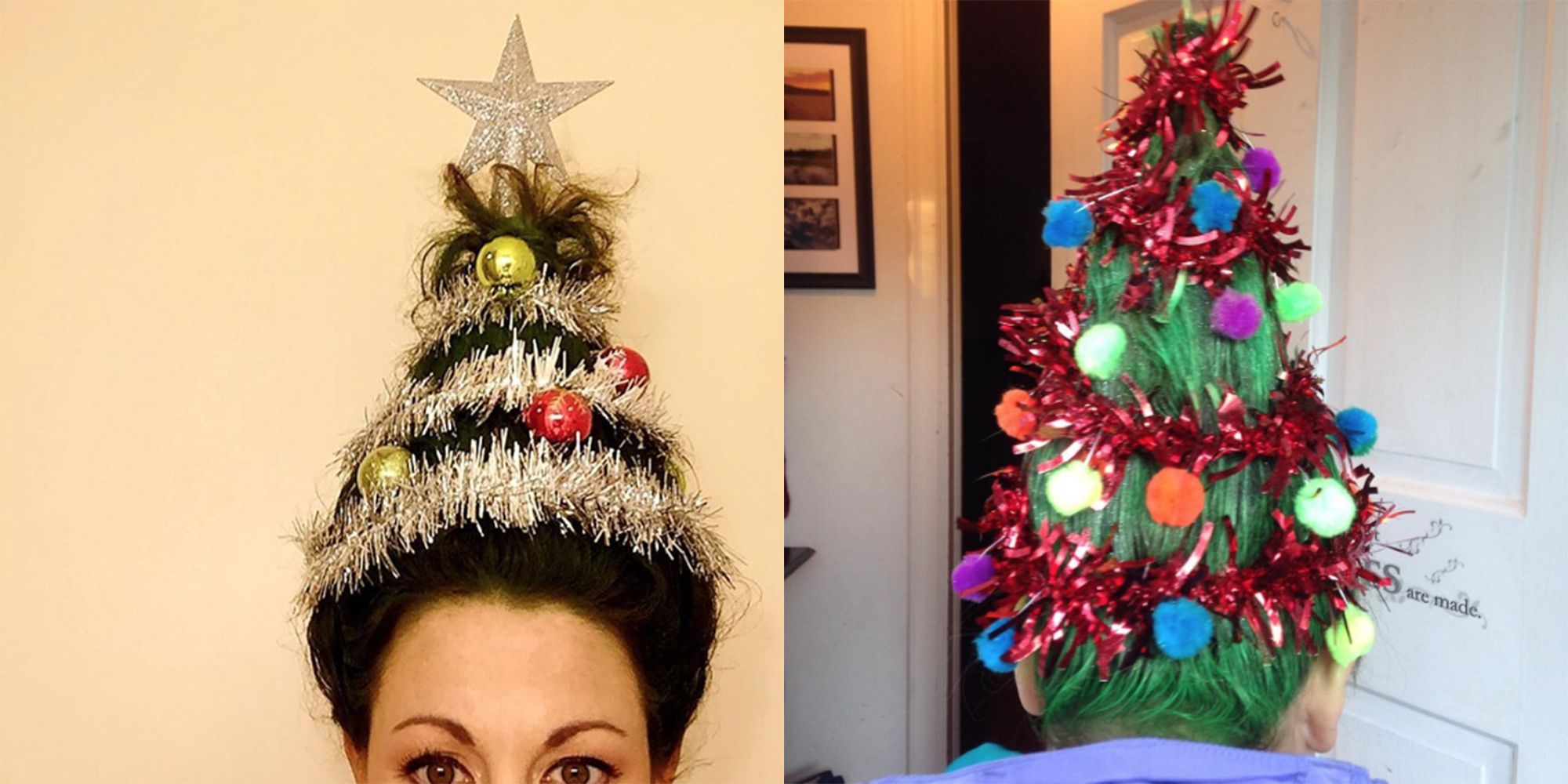 christmas tree hair is the new holiday beauty trend how to do christmas tree hair