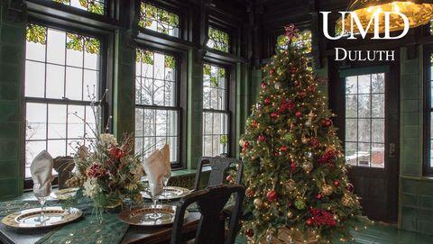 glensheen dining room christmas background