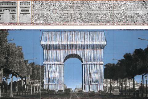Arch, Architecture, Triumphal arch, Landmark, Monument, Tree, Reflection, Symmetry, Facade, Ancient roman architecture,