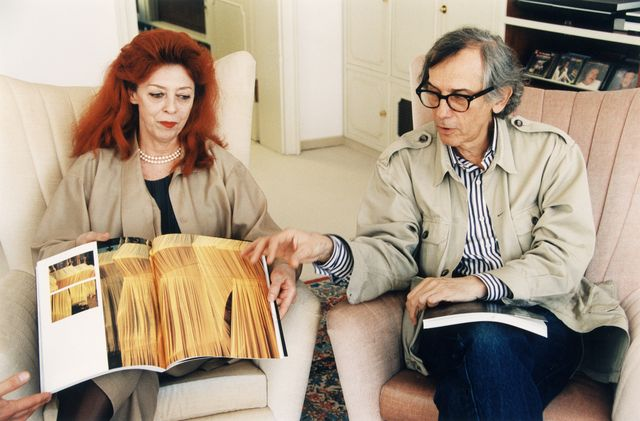 germany out christo christo vladimirov javacheff, artist, painter, bulgaria   together with his wife, artist jeanne claude l   book publication showing 'pont neuf' in paris, france   october 1993 photo by solcherullstein bild via getty images