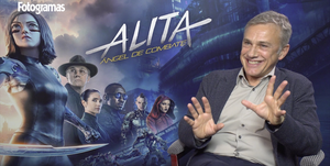 Christoph Waltz entrevista Alita Angel de combate