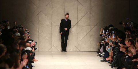 Christopher Bailey on the catwalk