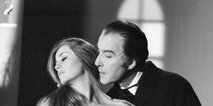 Christopher Lee as a vampire