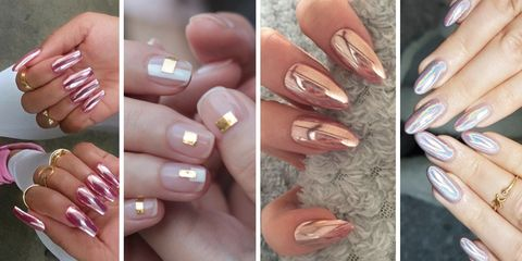 21 Chrome nails - From mirror nail polish to acrylic nail art ideas