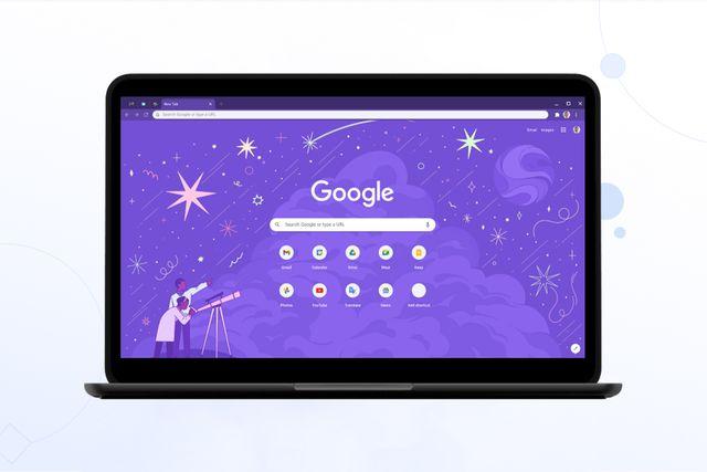 google chrome on laptop