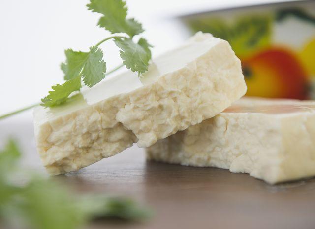 chunks of queso fresco cheese