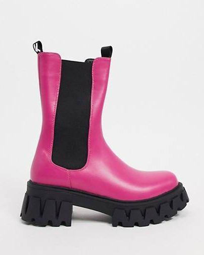 chunky boot roze koi footwear roze herfst
