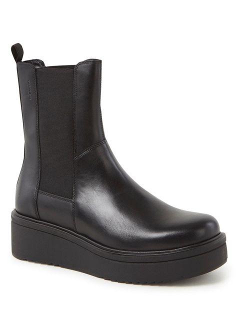 chunky boot vagabond bijenkorf zwart plateauzool