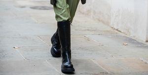 Chunky boots met pakken trend