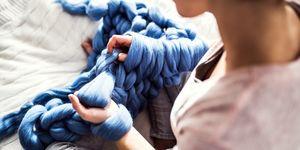 diy chunky knit blanket