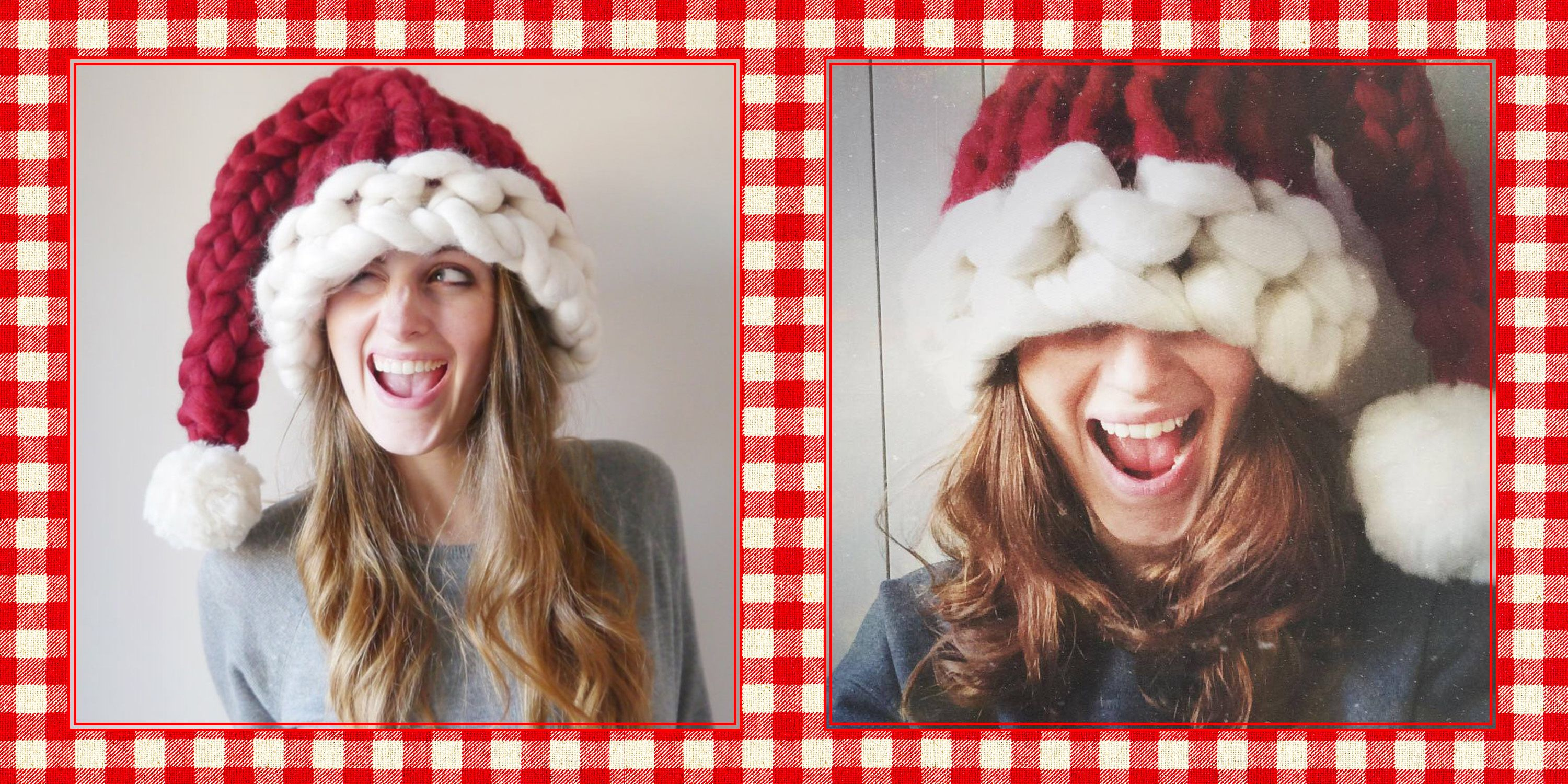 This Chunky Knit Santa Hat Will Be the Coziest Thing You Wear All Winter be82109b498