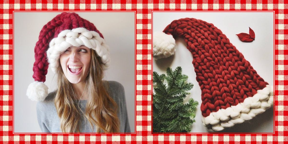 9422d6c3063 This Chunky Knit Santa Hat Will be the Coziest Thing You Wear All Winter -  Lauren Aston Designs