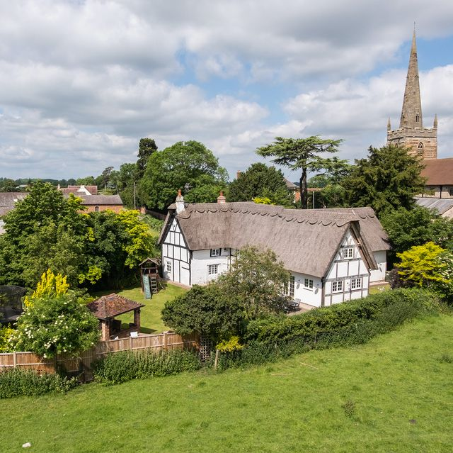 thatched tudor cottage for sale in warwickshire is the prettiest home we've seen