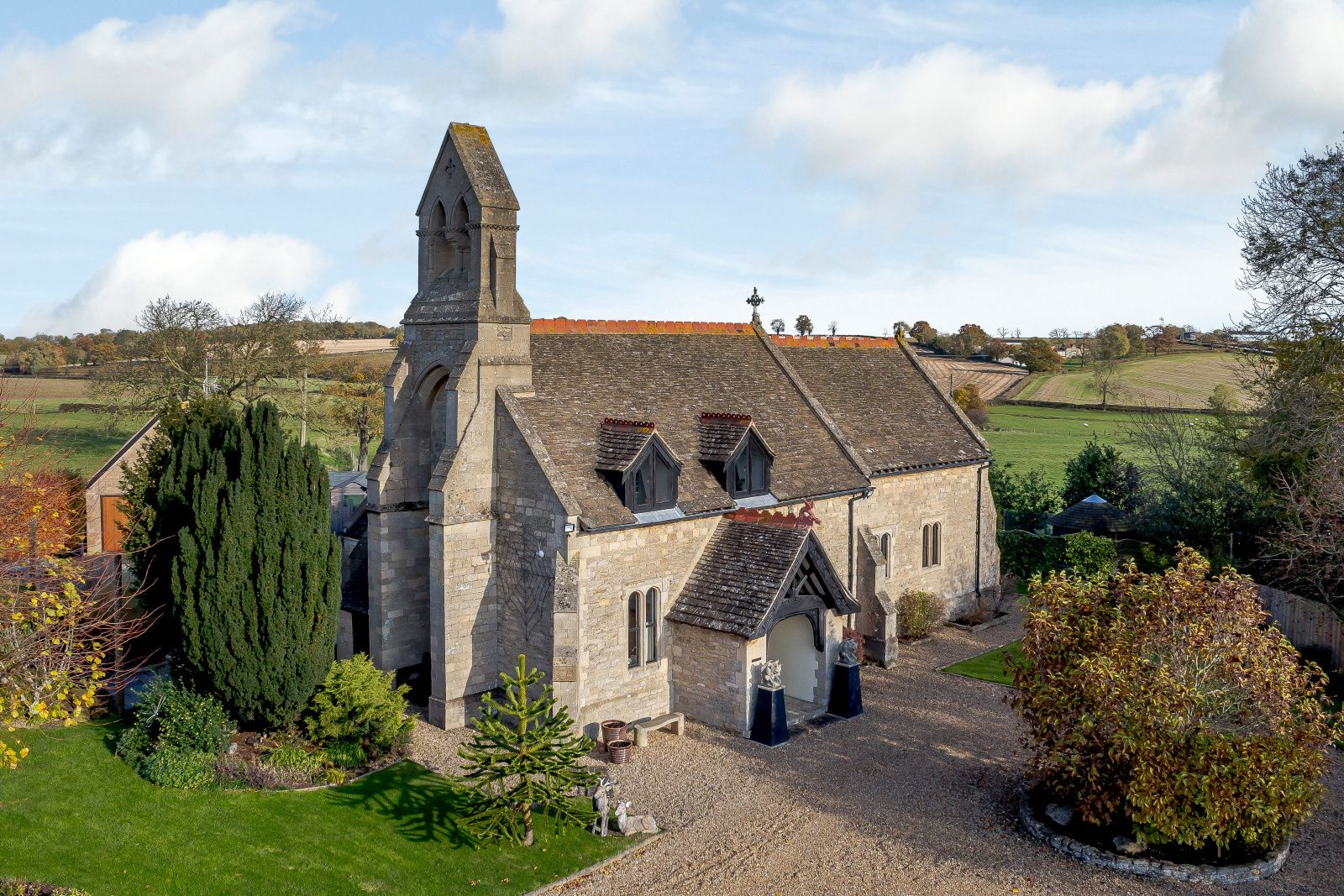 Grade II listed converted church for sale in Peterborough for £695,000