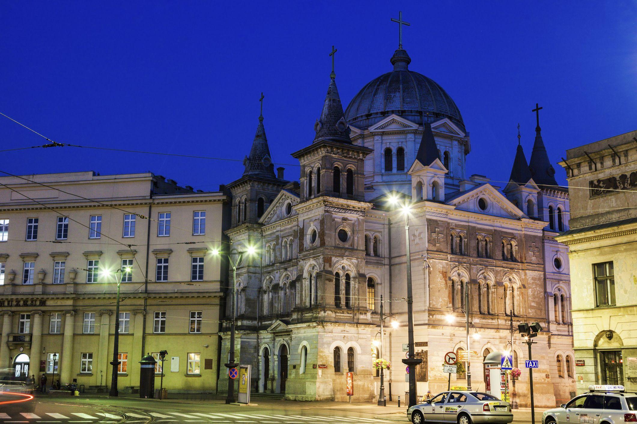 Church Pentecost on Liberty Square in Lodz, Poland