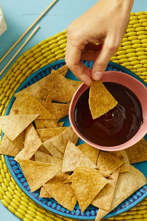 churro chips with spiced chocolate dip