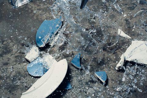 Blue, Water, Ice, Plastic,