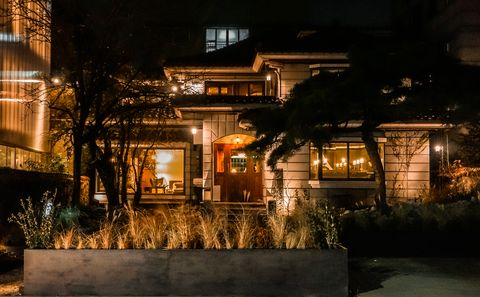 Lighting, Window, Property, Home, House, Real estate, Residential area, Facade, Midnight, Cottage,