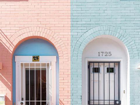 Arch, Architecture, Blue, Brick, Brickwork, Property, Window, Door, Wall, Building,