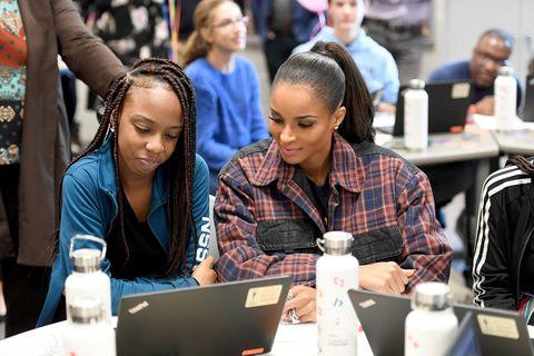 Ciara Surprises Amazon Future Engineer Students In Atlanta
