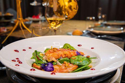 plato de nochevieja 2020 del restaurante zielou, madrid