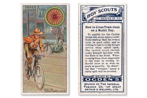 Bicycling Cigarette Trading Cards