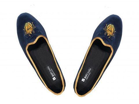 Footwear, Shoe, Slipper, Yellow, Plimsoll shoe, Leather, Suede, Espadrille, Ballet flat,