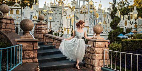 Clothing, Dress, Gown, Bridal clothing, Wedding dress, Bridal party dress, Lavender, Bride, One-piece garment, Ceremony,