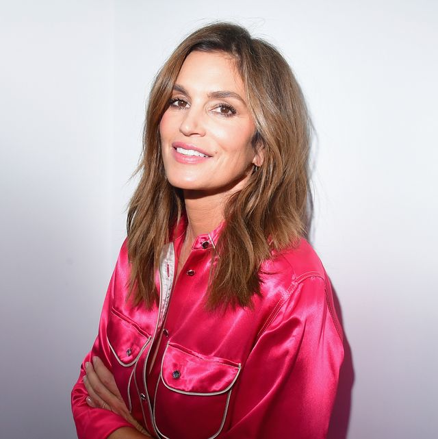 paris, france   september 28  cindy crawford during an exhibition hosted by acne studios featuring cindy crawford, sam abell and amarrillo on at galerie edouard escougnou on september 28, 2018 in paris, france  photo by victor boykogetty images for acne studios