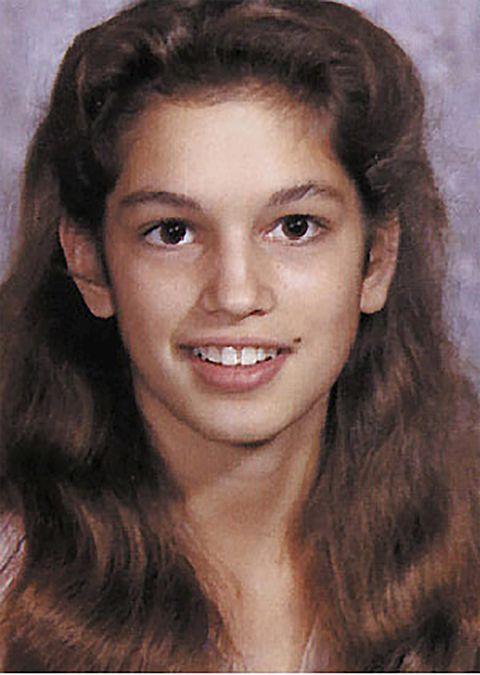 La modelo Cindy Crawford de pequeña