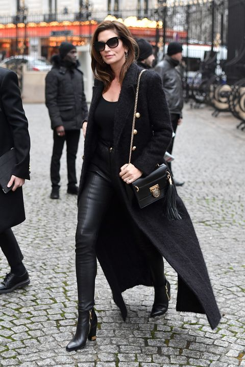 Street fashion, Clothing, Black, Fashion, Footwear, Snapshot, Coat, Outerwear, Street, Leg,