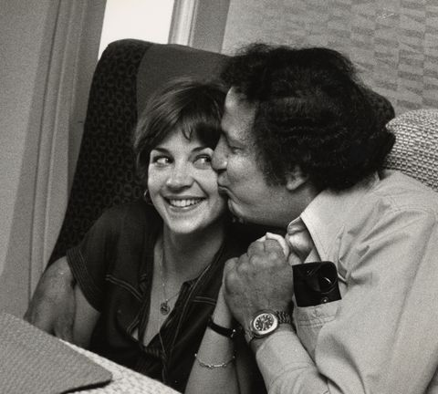 Cindy Williams and Ron Galella Sighting Onboard an Airplane - June 2, 1977