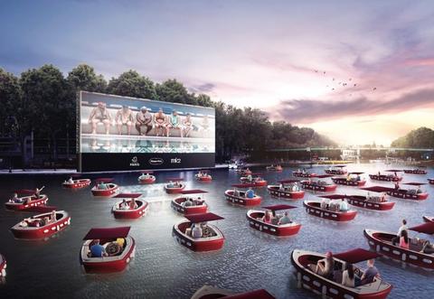 cine sobre el río sena en parís