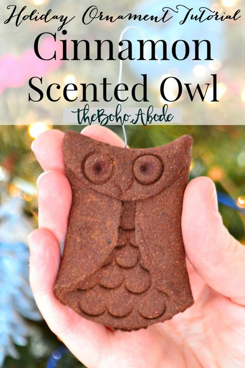 cinnamon christmas ornaments owl