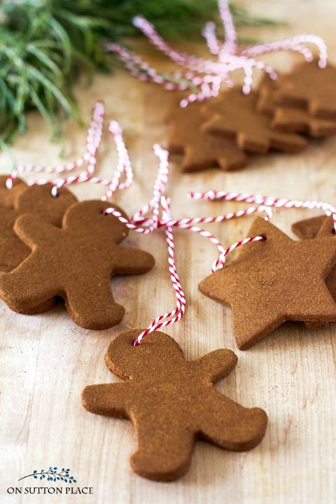 cinnamon ornaments with glue