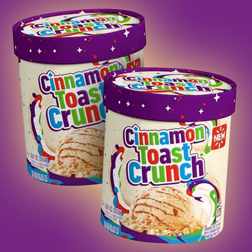 The New Cinnamon Toast Crunch Ice Cream Is Mixed With Actual Cereal Pieces