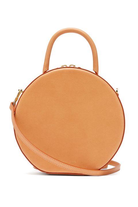 Bag, Handbag, Tan, Fashion accessory, Brown, Leather, Orange, Peach, Shoulder bag, Beige,