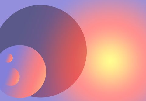 Circles in Space Creative Abstract Design
