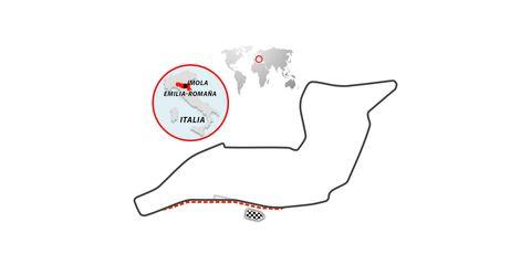 trazado del circuito de imola, en italia