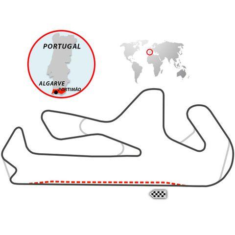 trazado del circuito de portimao, en portugal
