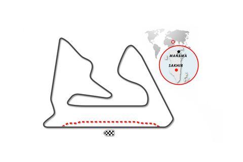 circuito de sakhir, en bahrein variante de fórmula 1