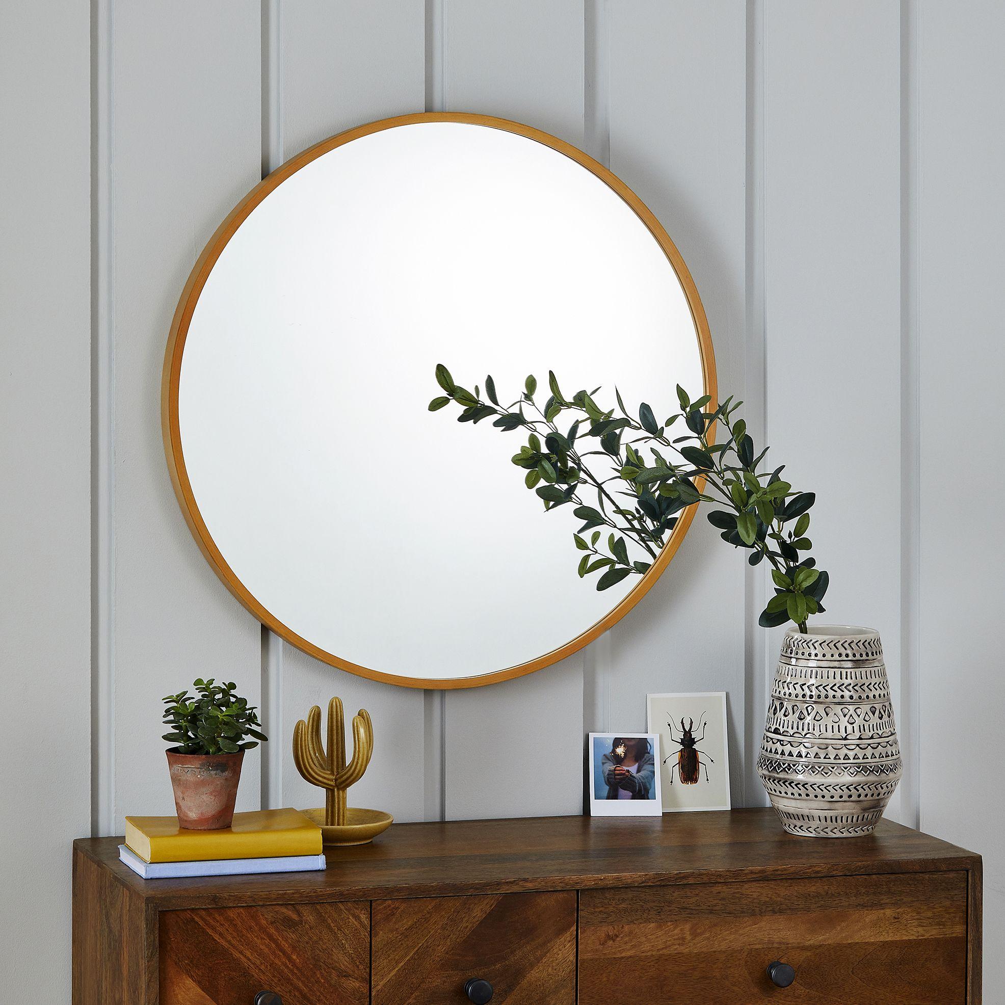 Circular Wooden Mirror £35, Dunelm