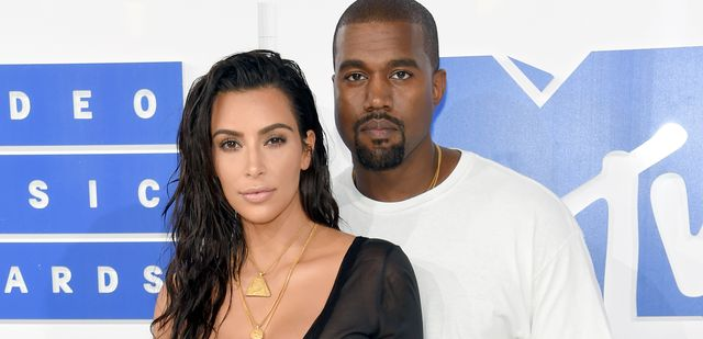 kim kardashian y kanye west, en una foto de archivo