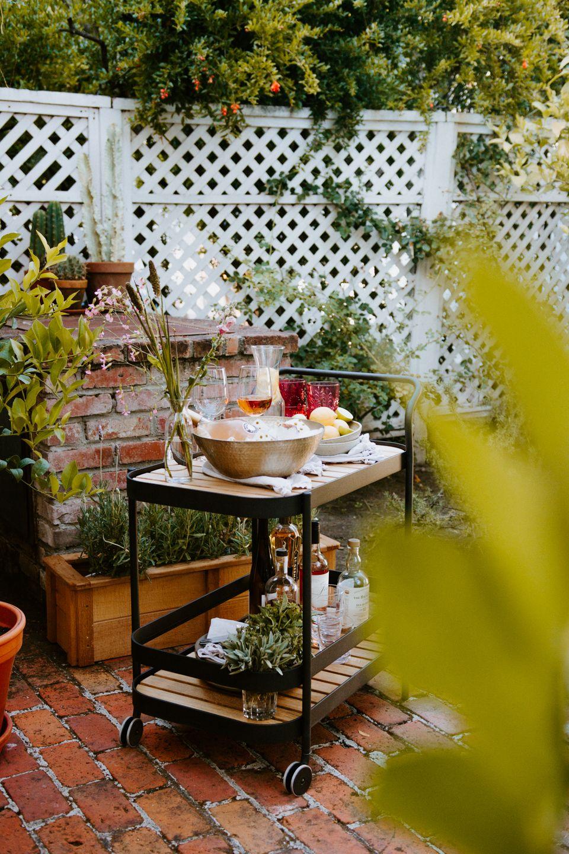 Ordinaire Outdoor Bar Cart Ideas