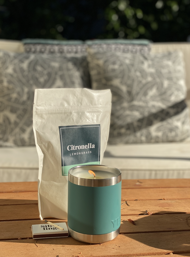 siblings co citronella candle mosquitoes