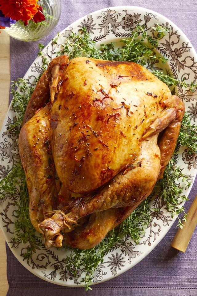 citrus brined roast turkey