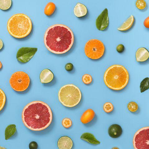 citrus fruits pattern background
