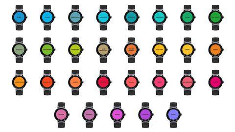 Yellow, Purple, Magenta, Technology, Orange, Red, Pink, Colorfulness, Amber, Watch,