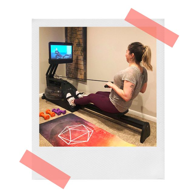christine using cityrow go max rower