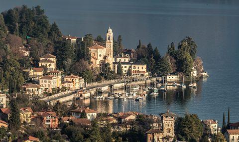 cityscape of tremezzo village located on the western shore of lake como lake como